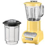 KitchenAid - Artisan blender with 1.5 l glass container and 0.75 l mix container, pastel yellow