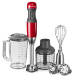 KitchenAid - Hand blender with 5 velocity levels, empire red