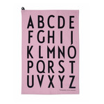 Design Letters - ABC Tea Towel Set, pink (set of 2)