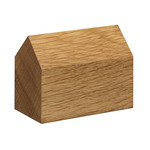 e15 - AC10 House Paperweight oak, saddle roof large
