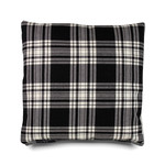 e15 - CU06 Nima Cushion 40 x 40 cm Tartan, Menzies Black and White