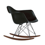 Vitra - Eames Plastic Armchair RAR, black / dark maple / powder coated basic dark