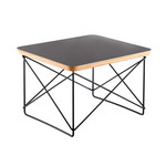 Vitra - Eames Occasional Table LTR, HPL dark mauve / power-coated basic dark