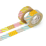 Masking tape - 2P deco series corner / izumi, peach (set of 2)