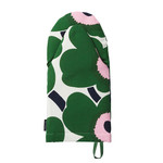 Marimekko - Pieni Unikko Oven Glove, off white / green / light red