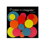 ThreeByThree - Color Dot magnets, 15 pieces