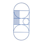 ferm Living - Outline Wall Decoration Oval, blue