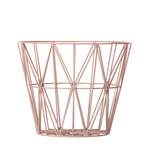 ferm Living - Wire Basket Small, rose