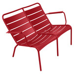 Fermob - Luxembourg Low Armchair Duo, poppy red