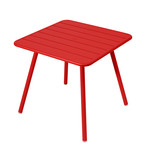 Fermob - Luxembourg Table, Square (4 legs), 80 x 80cm, poppy red
