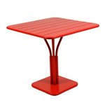 Fermob - Luxembourg Table, Square, 80 x 80cm, poppy red