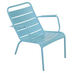 Fermob - Luxembourg Low Armchair, turquoise blue