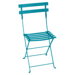 Fermob - Bistro metal folding chair, turquoise blue