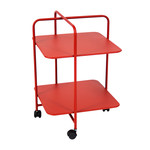 Fermob - Alfred Side Table on wheels, poppy