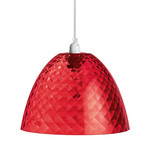 Koziol - Stella S Pendant Lamp, transparent red