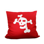 "De Breuyn - debe.deluxe Cushion ""Pirate"", red"