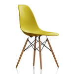 Vitra - Eames Plastic Side Chair DSW (H 43 cm), ash honey / mustard, felt gliders white (hard floor)