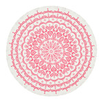 Vitra - Tablecloth Lace, grey / pink