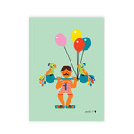 byGraziela - Art Prints Circus A3, Weightlifter