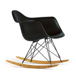 Vitra - Eames Plastic Armchair RAR, basic dark / maple yellowish / powder coated basic dark