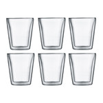 Bodum - Canteen Glass, double-walled, 0,2 l, transparent (Set of 6)