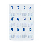 Snug.Studio - snug.toyblocks Wall Calendar 2017, blue