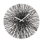 Koziol - Silk Wall Clock, black