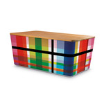 Remember - Bread Box with Bamboo Lid, Zigzag