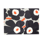 Marimekko - Pieni Unikko Placemat, white / navy blue / orange (Autumn 206)