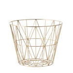 ferm Living - Wire Basket Small, brass