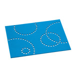 Hey Sign - Table Mat Stamp, rectangular, 5 mm, teal 34