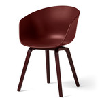 Hay - About A Chair AAC 22, wooden four-leg frame, dark brick / brick (felt glides)