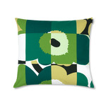 Marimekko - Ruuto Unikko Cushion Cover 50 x 60 cm, green / white / black (Spring 2017)
