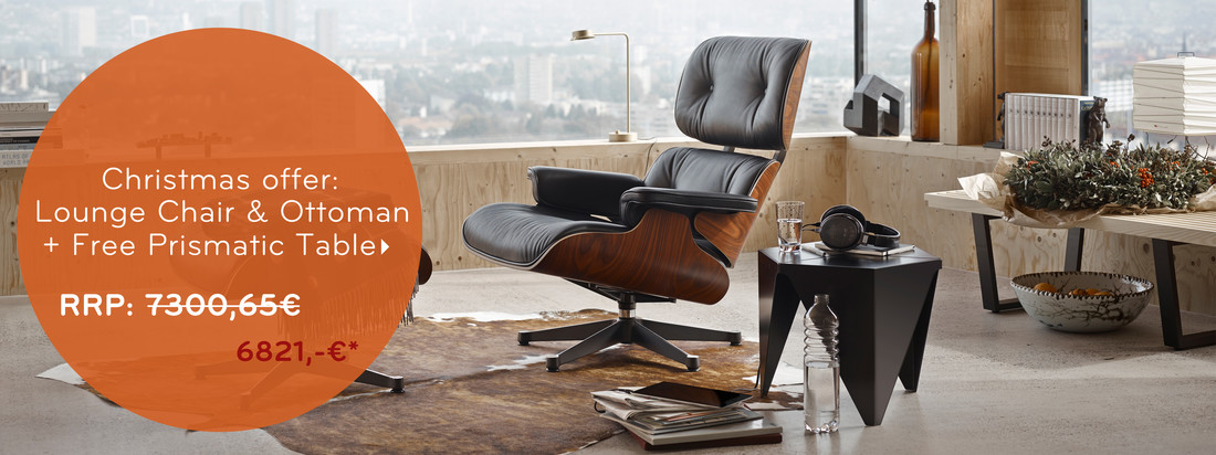 Christmas offer: Vitra Lounge Chair & Ottoman + Free Prismatic Table