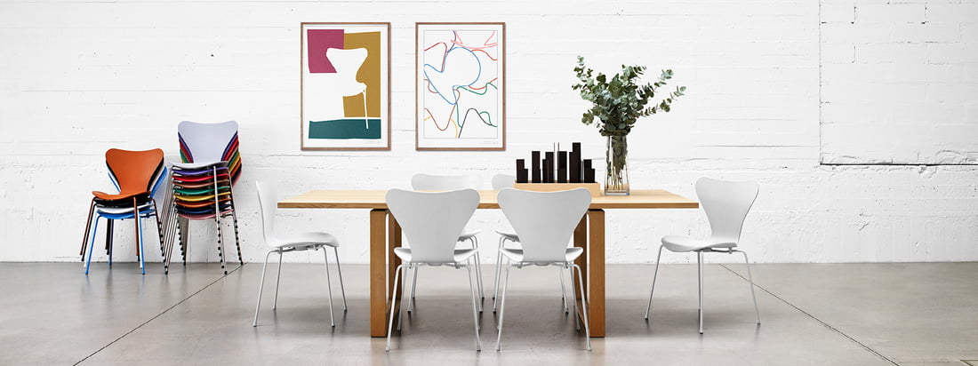 series 7 posters by fritz hansen in the shop. Black Bedroom Furniture Sets. Home Design Ideas