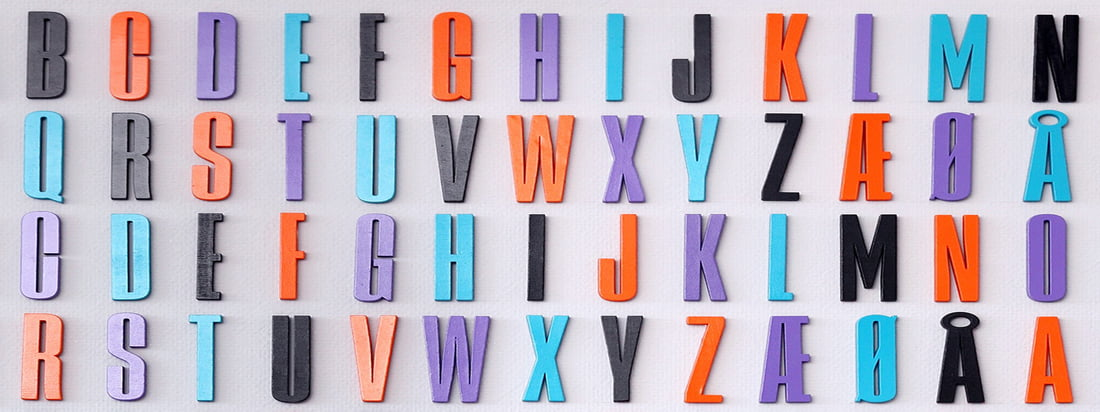 The Arne Jacobsen ABC Collection by Design Letters is based on a typography originally designed for the Aarhus Town Hall in 1937 by the Danish designer.
