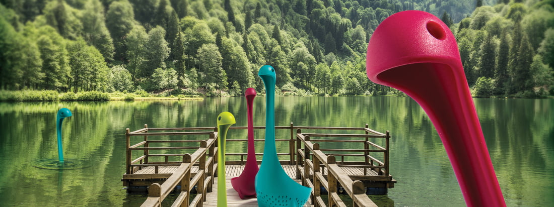Mamma Nessie vegetable strainer and Nessie ladle of Ototo in many different colours