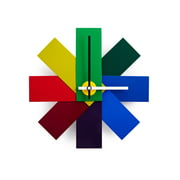 Norman Copenhagen - Watch Me Clock Multicoloured