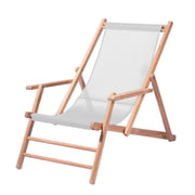 Jan Kurtz - Teak Deckchair, synthetic fabric