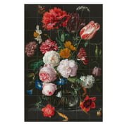 IXXI - Still Life with Flowers in a Glass Vase (De Heem)