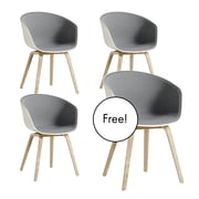 3+1 Offer-Set: Hay - About A Chair AAC 22 with Front Upholstery