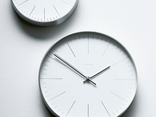 There is a suitable wall clock for every room, like the classic wall clock Max Bill by Junghans. The clock is an example of simple design and adds an individual note to any location.