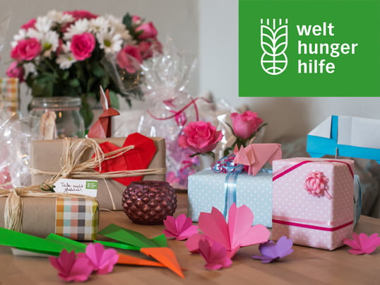 Gift donations of the German Agro Action Welthungerhilfe - Teaser