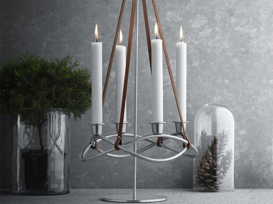 The Season candleholder from Georg Jensen is a beautiful accessory for your living room for more than just the holiday season. You can adjust it every season by simply decorating it with colored candles.