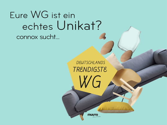 Connox is looking for the trendiest shared flat of Germany - be part of the open video contest -and win prizes with a value of 12,000 euros. Finished!