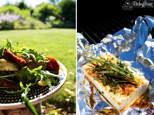 Bloger Claudia from Behyflora shares her delicious and easy recipes for the next BBQ party outside: mediterranean baked potato with homemade pesto. Tasty!