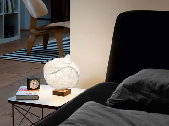 The Baby Cloud Table Lamp by Belux is having a integrated 5-watt lamp and the lampshade is made of polyester. The light was created by star-architect and designer Frank Gehry.