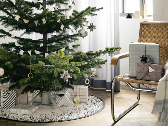 ferm Living - Christmas 2014, ambience with Christmas tree and gifts - ambience image