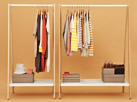 The Toj wardrobe by Normann Copenhagen creates a lot of space for your clothes, shoes and bags. The wardrobe was designed by the young Danish designer Simon Legald.