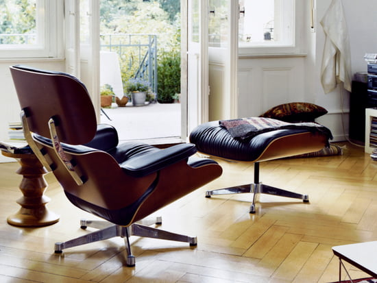 The lounge chair and ottoman by Vitra